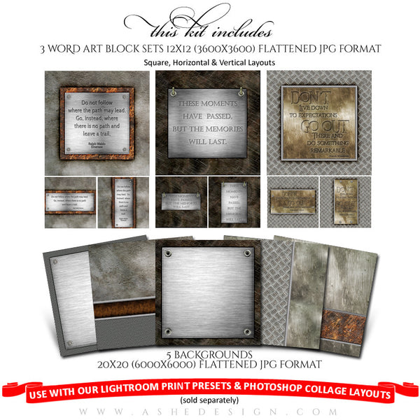 Collage Accessory Kit | Scrap Metal full set web display