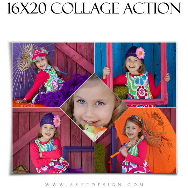 16x20 Collage Maker Action - Diamond Focus web display HZ2