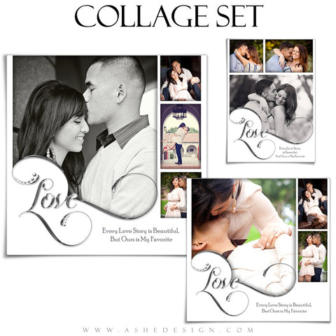 Photoshop Collage Set 5x7, 8x8, 12x12 | Simply Worded Love
