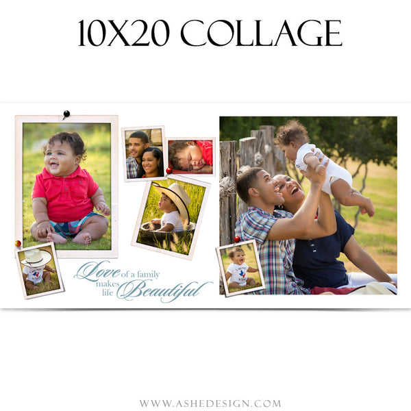 Collage Template 10x20 | Family Time 2