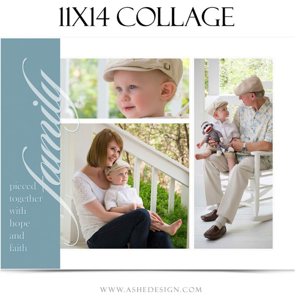 Collage Template 11x14 | Family Time 3
