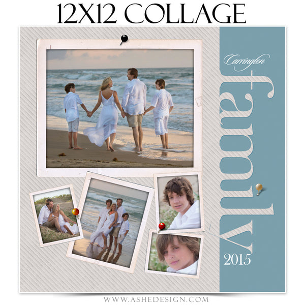 Collage Template 12x12 | Family Time 4