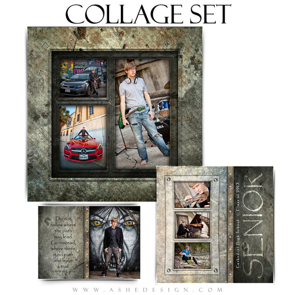 Senior Boy Collage Set (5x7, 8x8, 12x12) - Granite