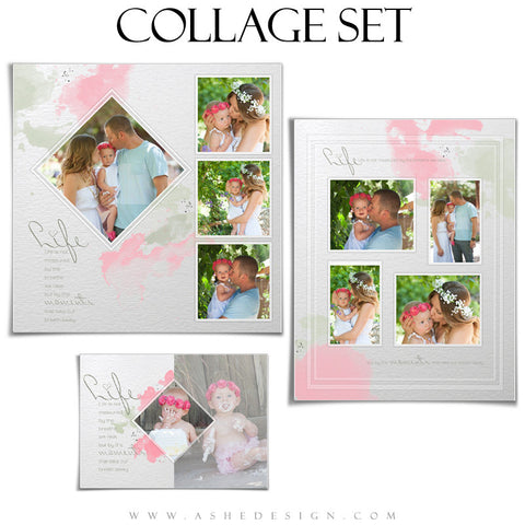 Collage Template Set | Watercolors