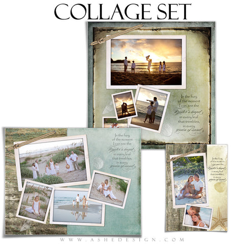 Collage Template Set | Footprints In The Sand