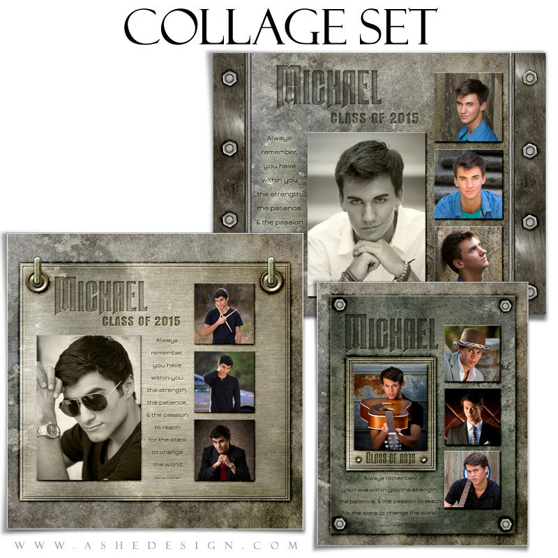 Collage Template Set | Engraved Metal