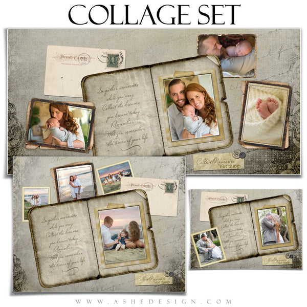 Amped Photoshop Collage Templates for Photographers | Collect Moments set