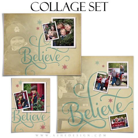 Photoshop Collage Template Set | Believe