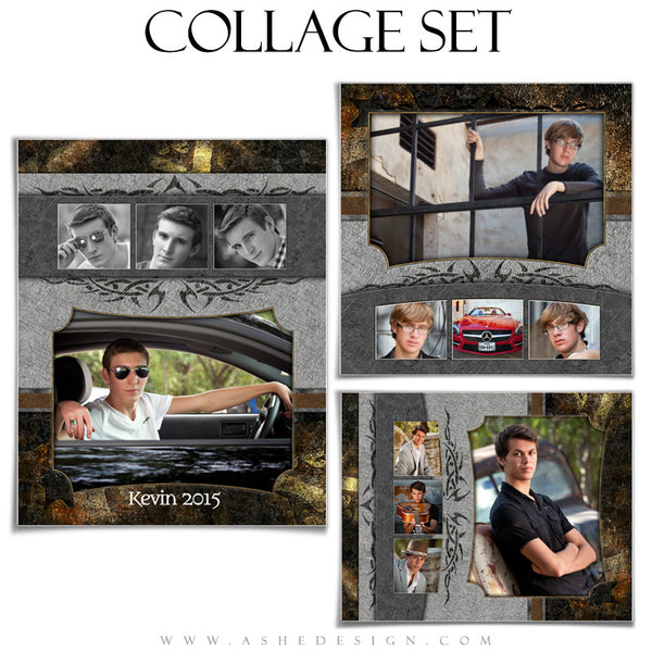 Senior Boy Collage Set | Tattooed