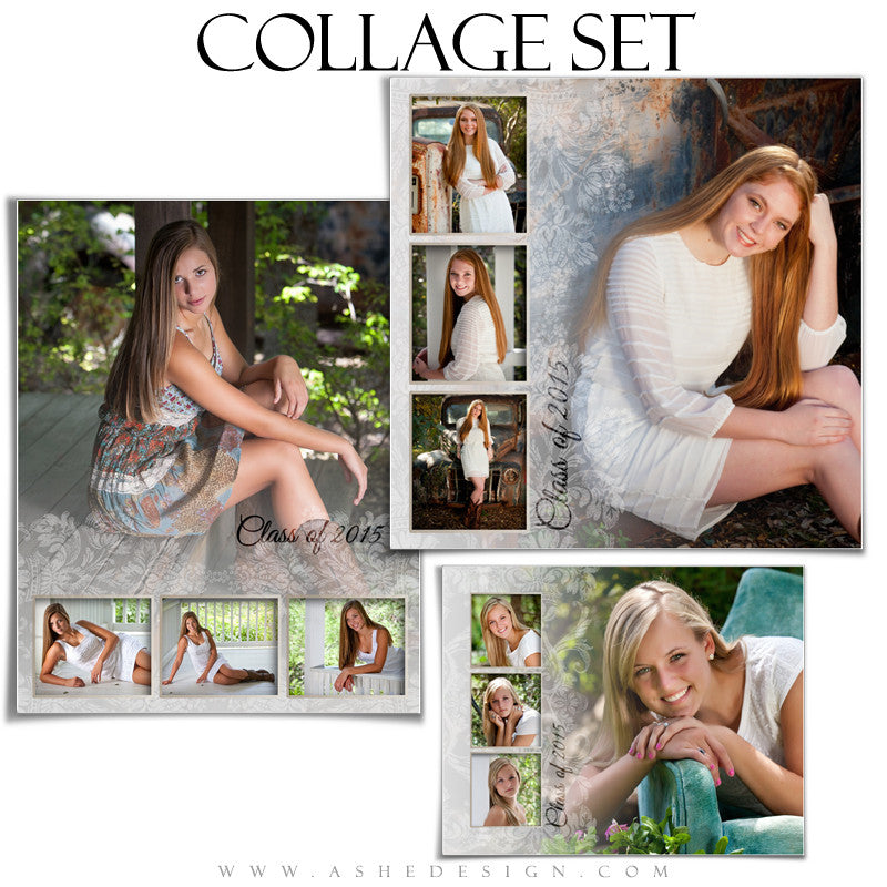 Senior Girl Collage Set | Faded
