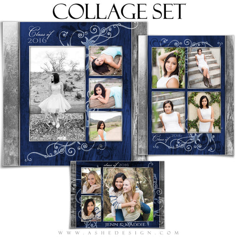 Senior Girl Collage Set | Blue Steel