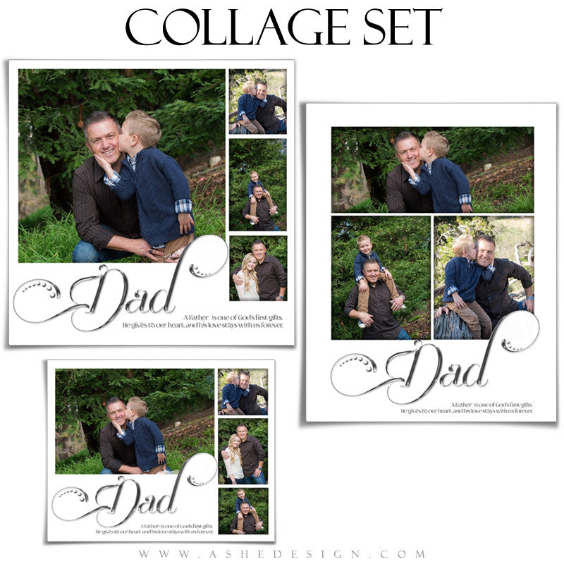 Father Collage Set | Simply Worded Dad