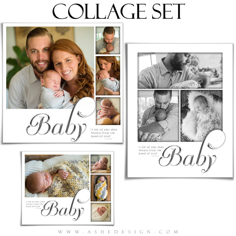 Newborn Collage Set | Simply Worded Baby