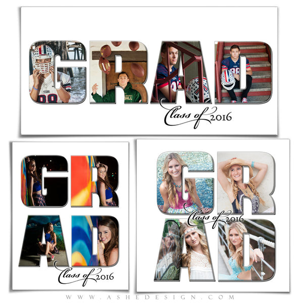 senior photo collage templates - word collage set grad ashedesign