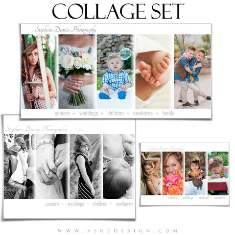 Simply Chic Collage Templates for Photographers