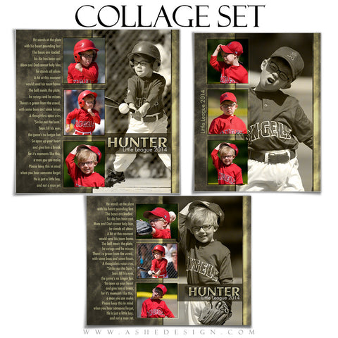 A League Of Their Own Collage Template for Photographers