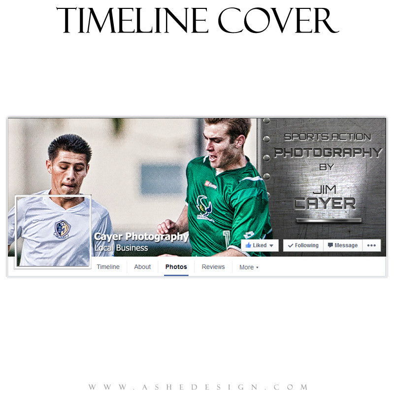 Timeline Cover Template | Live For Game Day