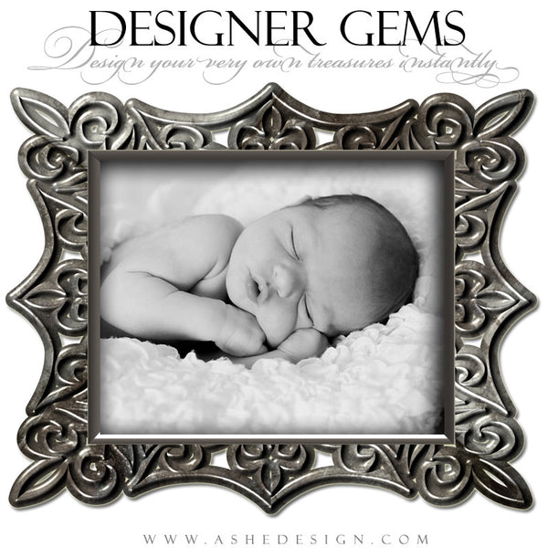 Designer Gems Pewter Frames example web display