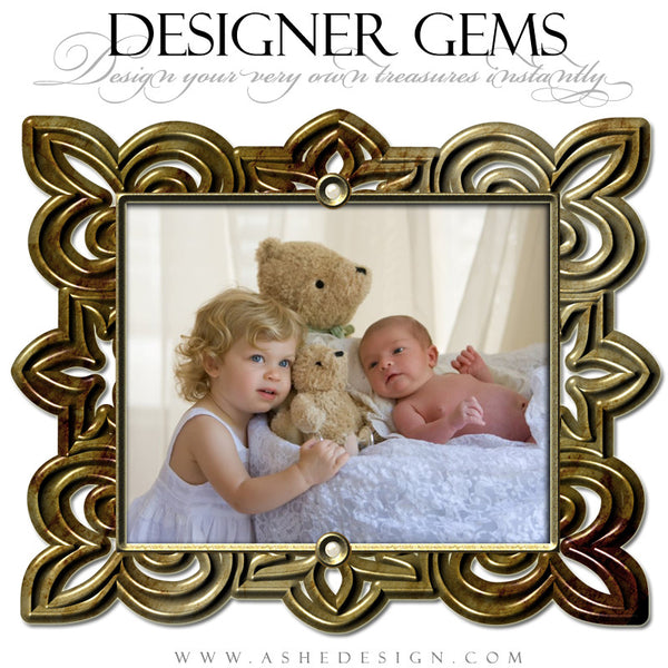 Designer Gems Brushed Gold Frames example web display