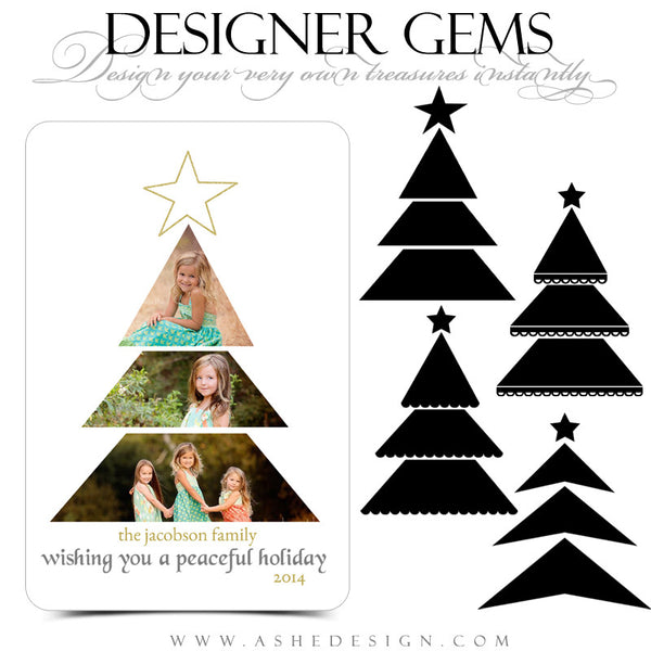 Designer Gems for Photoshop | Christmas Tree Photo Masks