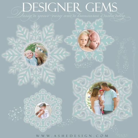 Designer Gems for Photoshop | Snowflake Photo Masks
