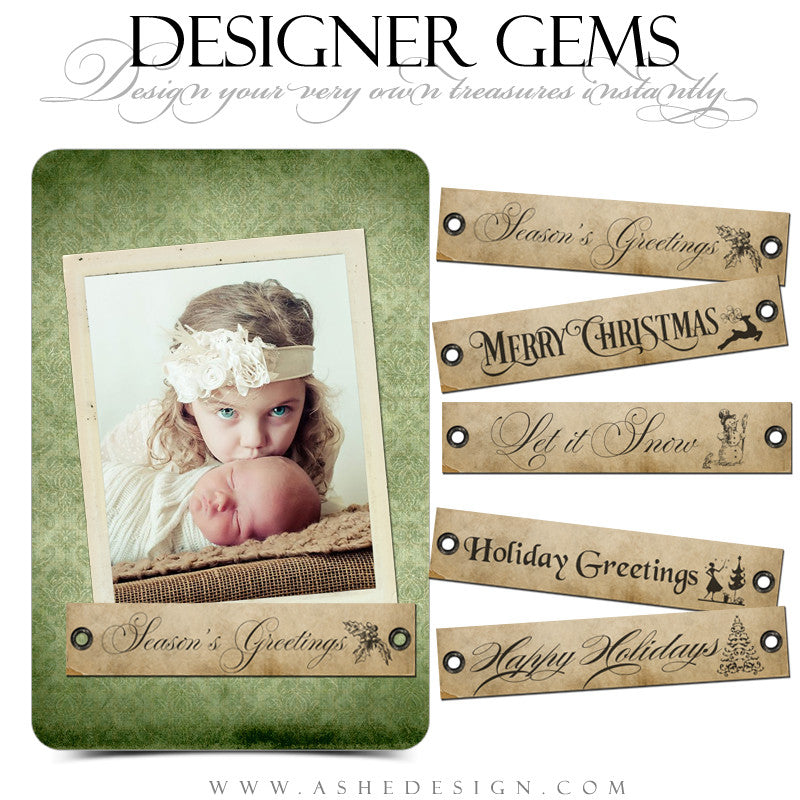 Designer Gems for Photoshop | Christmas Word Art Tags