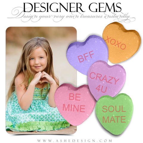 Designer Gems -  Large Conversation Hearts