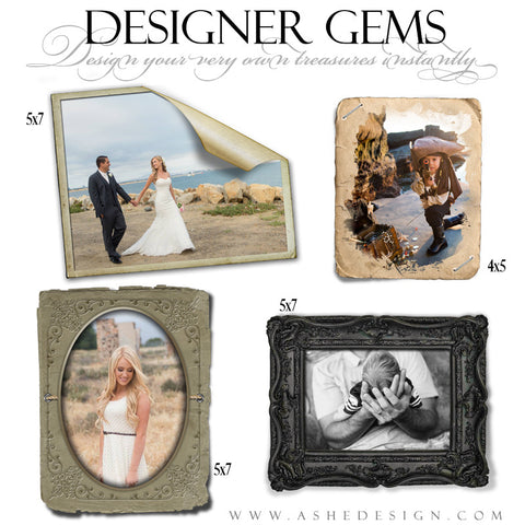 Photoshop Designer Gems | Vintage Frames Set 3
