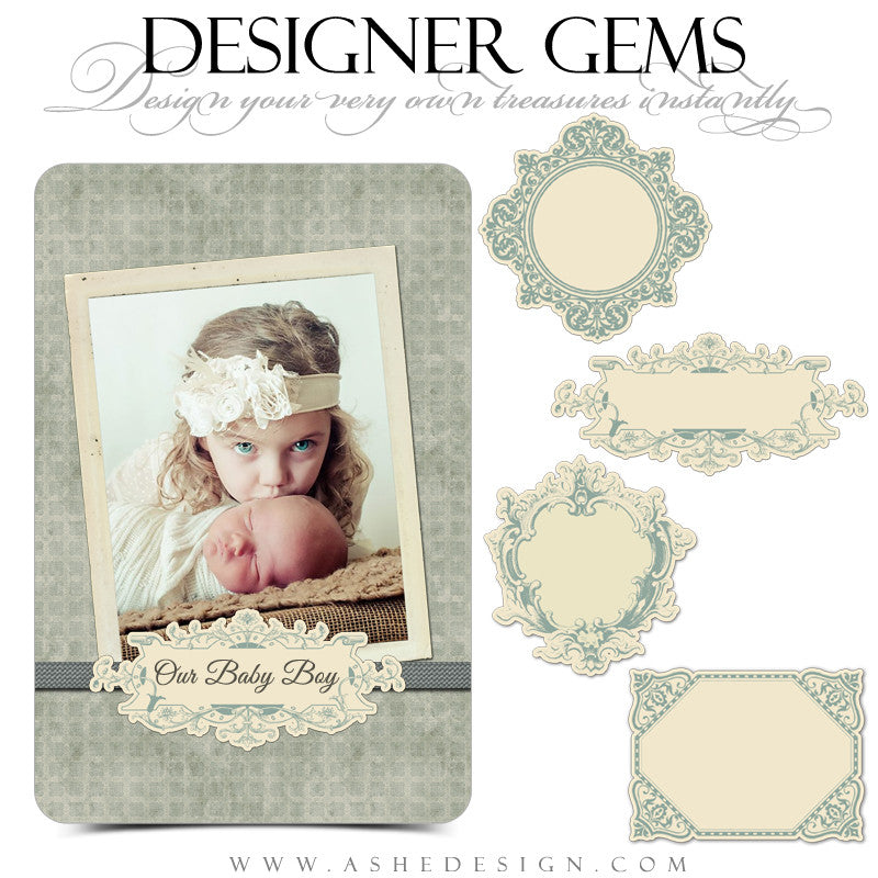Designer Gems Vintage Tags web display template