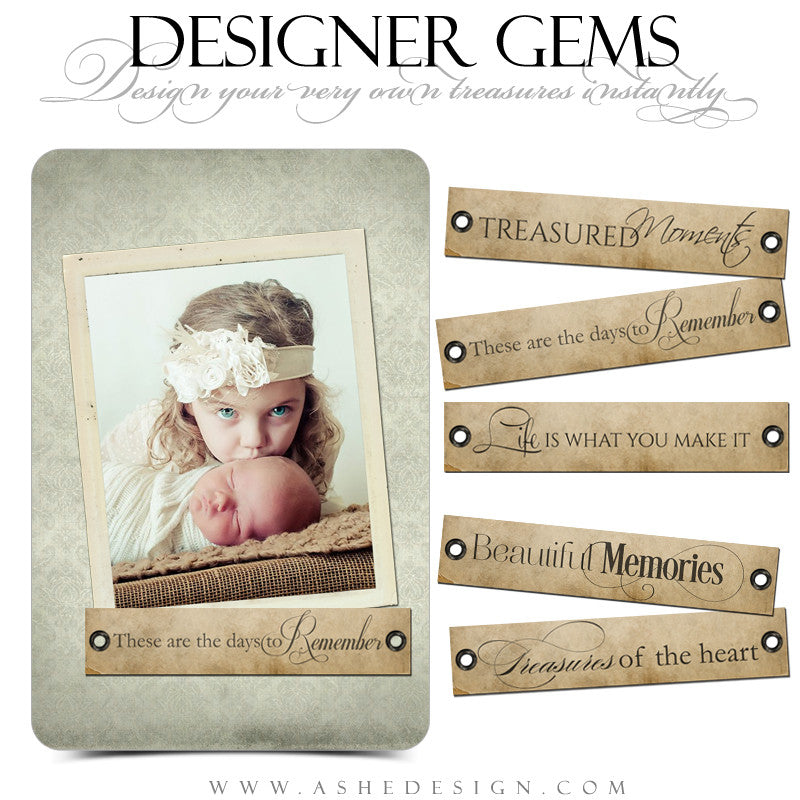 Designer Gems Word Art Tags | Treasured Memories