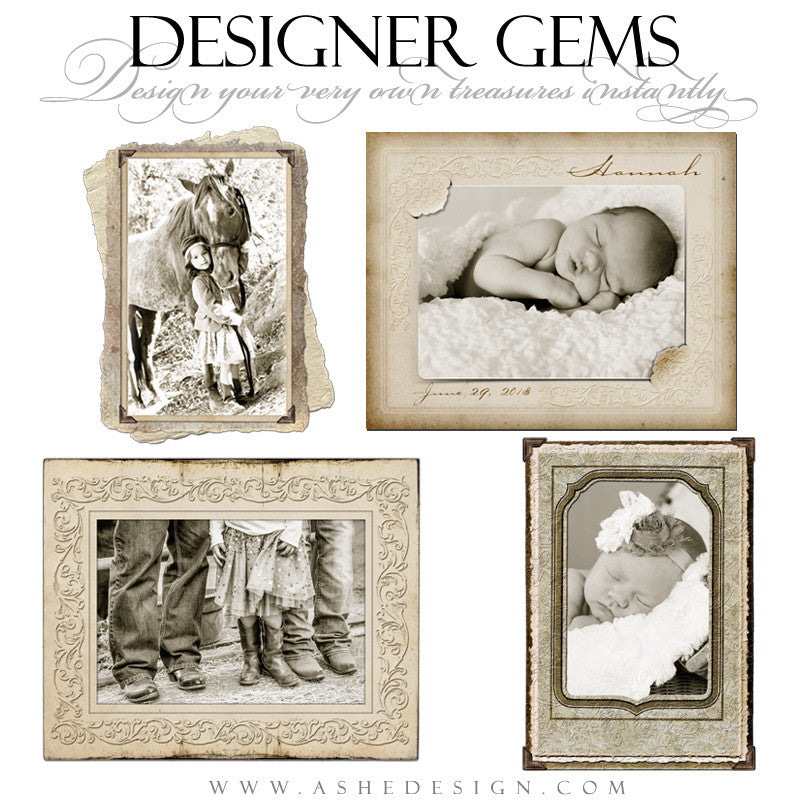 Designer Gems - Victorian Photo Frames full set web display