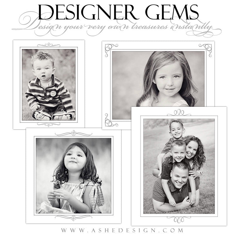 Designer Gems - Simply White Photo Mats full set web display