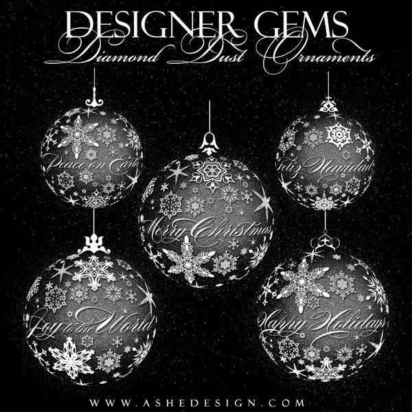 Designer Gems | Diamond Dust Snowflake Ornaments