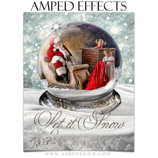 Ashe Design | Amped Effects Photography Templates | Diamond Dust Snow Globe 2