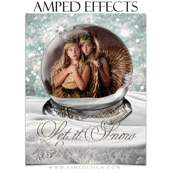 Ashe Design | Amped Effects Photography Templates | Diamond Dust Snow Globe 3