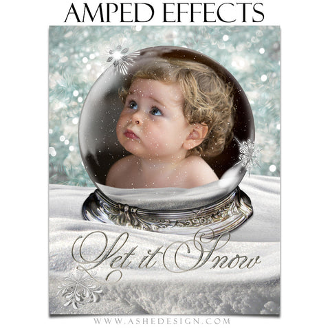 Ashe Design | Amped Effects Photography Templates | Diamond Dust Snow Globe 1