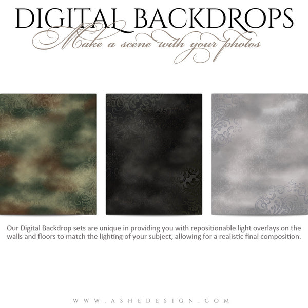 Digital Props Backdrops | Old World Masters 01 full set