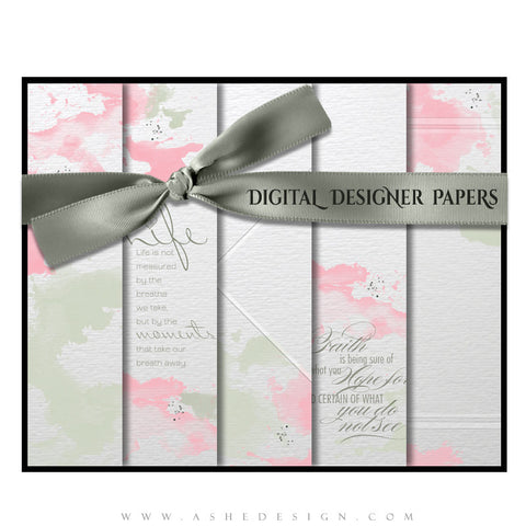 Watercolors Digital Designer Paper Set