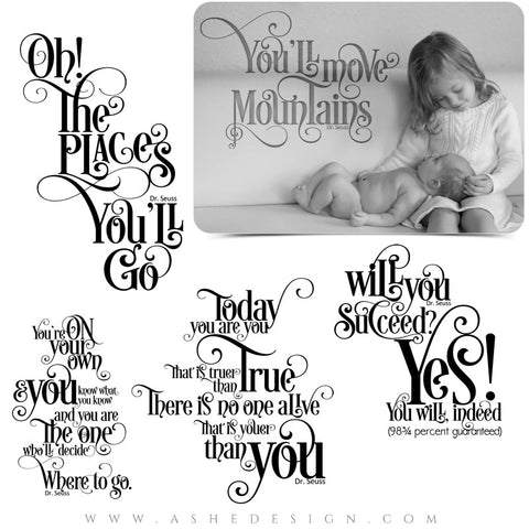Word Art Collection - Dr. Seuss Quotes full set web display