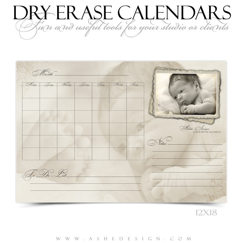 Dry Erase Calendar Designs - Antique Fairy Tale