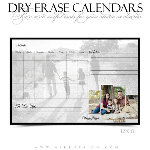 Dry Erase Calendar Designs - Split Panels
