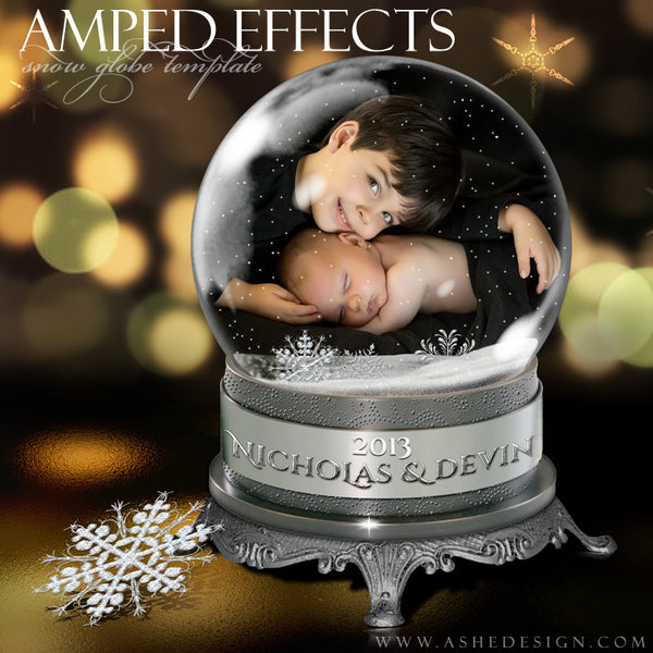 Ashe Design | Snow Globe Amped Effect Example 1 template