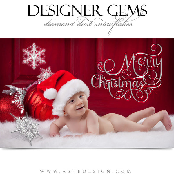 Designer Gems - Diamond Dust Snowflakes