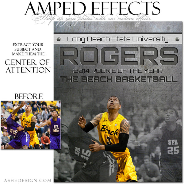 Ashe Design | Amped Effects Sports Templates | Center Of Attention Engraved Metal Basketball example web display