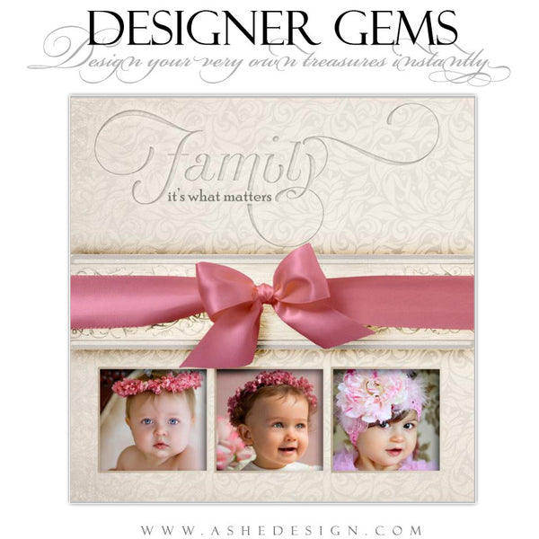 Designer Gems Champagne Ribbons Example