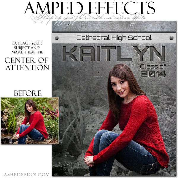 Ashe Design | Amped Effects Sports Templates | Center Of Attention Engraved Metal Senior example web display