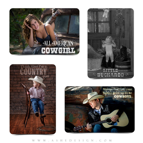 Photography Word Art Set | Cowboys & Cowgirls examples