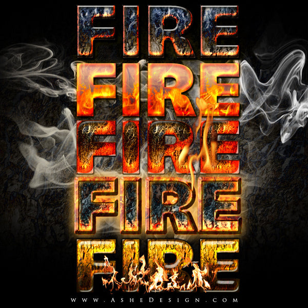 Ashe Design | Photoshop Layer Styles | Fire example web display