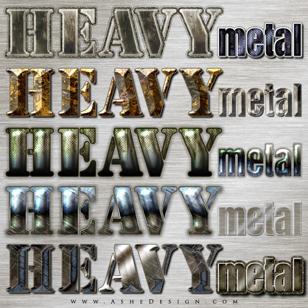 PS Layer Style - Heavy Metal examples web display