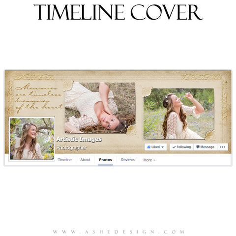 Victorian Frames Timeline Cover Template